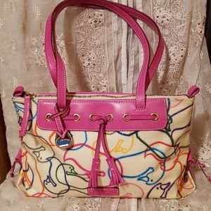 Dooney and Bourke Outline Tote Leather Trim